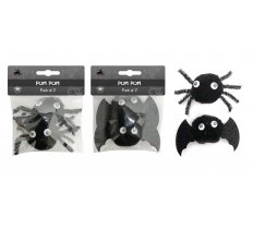 POM POM SPIDER/BAT 2pk 2 ASSORTED