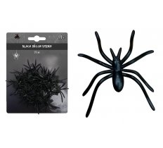 BLACK DECOR SPIDER 20pk