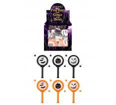 72 X MINI SPIN DRUM 10CM HALLOWEEN (15P EACH)