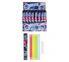 12 PACK GLOW STICK BRACELETS WITH CONNECTORS